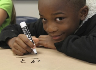 boy study math